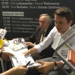Wojciech Pokora i Krzysztof Pyzia na Warszawskich Targach Książki
