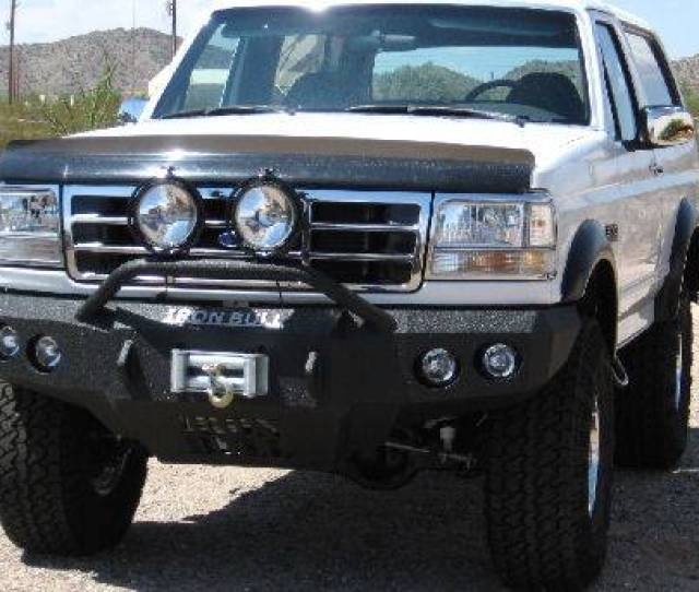 Iron Bull Bumpers Iron Bull Front Bumper Ford 1992 96 Bronco