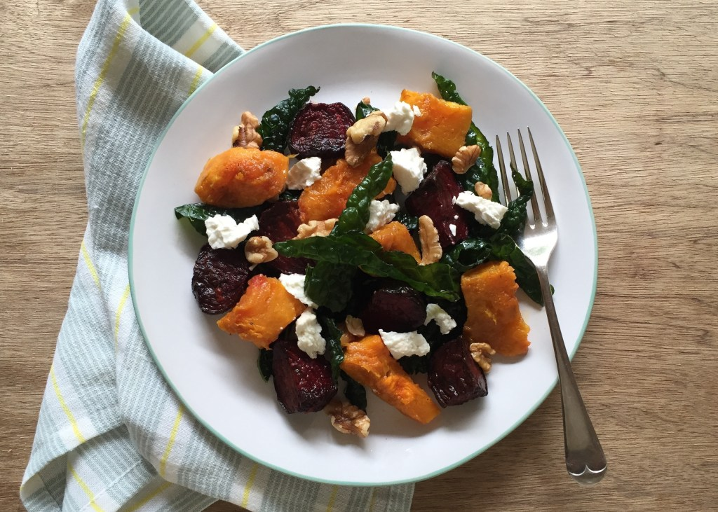 gluten free dairy free veggies veg beet pumpkin salad
