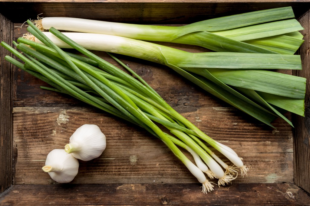 Spring onion, leek and garlic add great, low chemical flavour to dishes