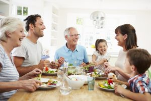 Food is about family, sharing and getting together - flexible