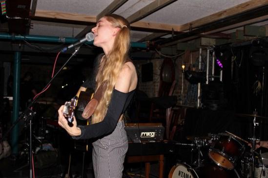 Mamalarky's lead singer killing it on stage.