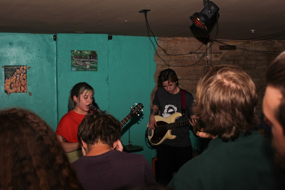 Baby Bangs Performing their set for the crowd.