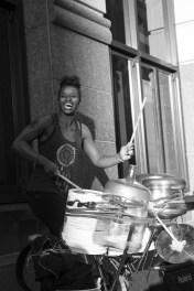 Street performer on 6th st.