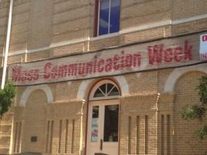 Texas State's Mass Comm Week Banner