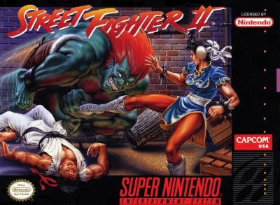 Street Fighter II game cover (Super Nintendo)