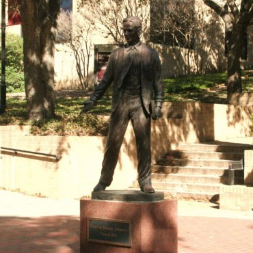 LBJ Statue. Photo by Nathalie Cohetero