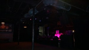 The stage pre-show.