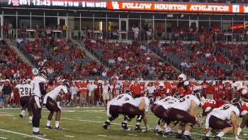 Saturday's game will be the first time in three years that UH will play at Bobcat Stadium. Photo by Kiersten Ehr.