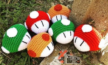 If you're interested in Super Mario themed creations, visit the LEVEL UP Creations social media pages for information about mushrooms such as these. Photo by Alexandrea Rodriguez.