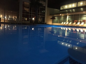 Go night swimming with friends and take advantage of the late summer heat. Photo by Jourdan Bazley.
