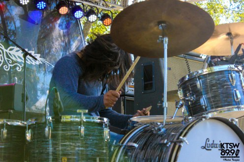 Chris Ortiz of Amplified Heat laying it down on his 60's Ringo Starr Ludwig kit.