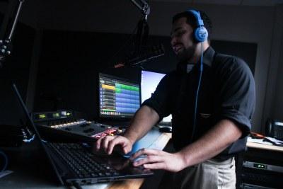 Joshua Ramirez (AKA Mr. San Marvelous) hosts his show, San Marvelous, on KTSW from 8-10 p.m. on Tuesdays. Photo by Tafari Robertson.
