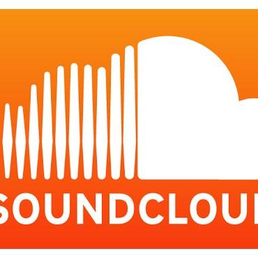 The SoundCloud logo, a white cloud on an orange gradient background.