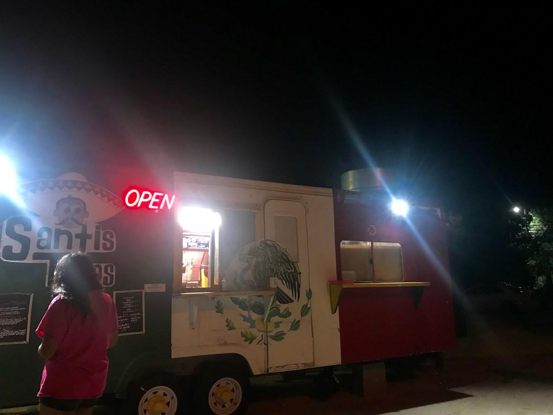 Santi's Taco truck in San Marcos, Texas
