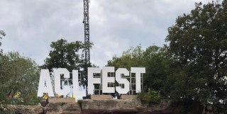 """a sign that says """"ACL Fest"""""""