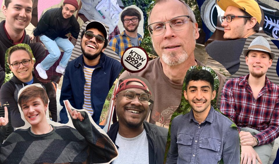 A collage of members that work with KTSW 89.9.