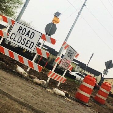 Mill Street construction causes lane closures along part of route.