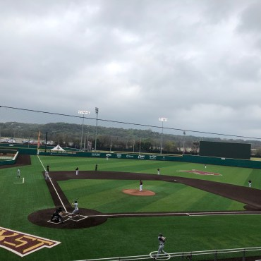 picture of baseball diamond on cloudy dady