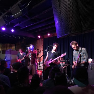 All five members of the rock band Early November perform to a packed house.