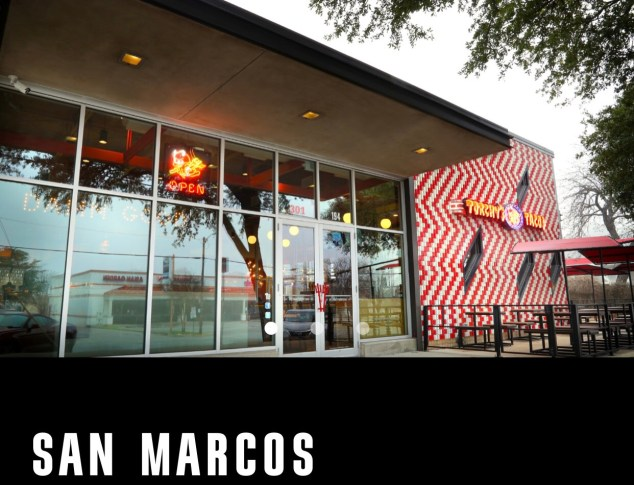 The outside of Torchy's San Marcos location