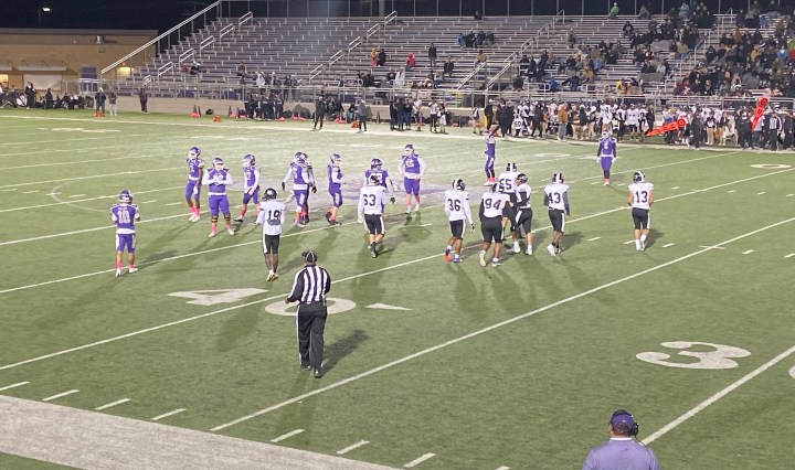 Rattlers setting up on offense while the Knights are on defense