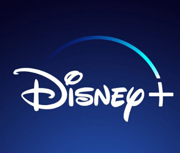 The word Disney and a plus sign in white lettering