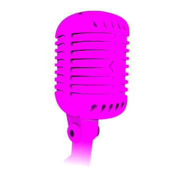 Pink old fashioned microphone