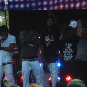 Chief Keef performing on stage at Lollapalooza right at the beginning of the explosion of drill music.