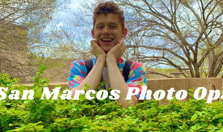 """a photo taken at Hines of Alex with the text """"San Marcos Photo Ops"""" on top"""