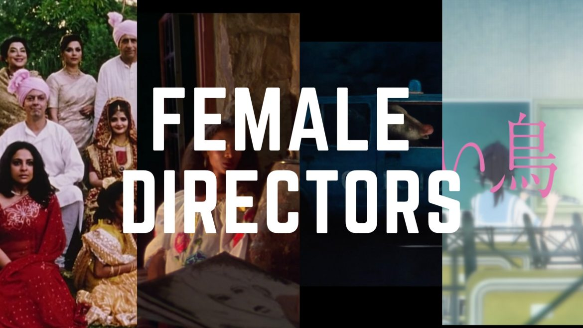 """cropped images of all the films I include in the article with the text """"female directors"""" on top"""