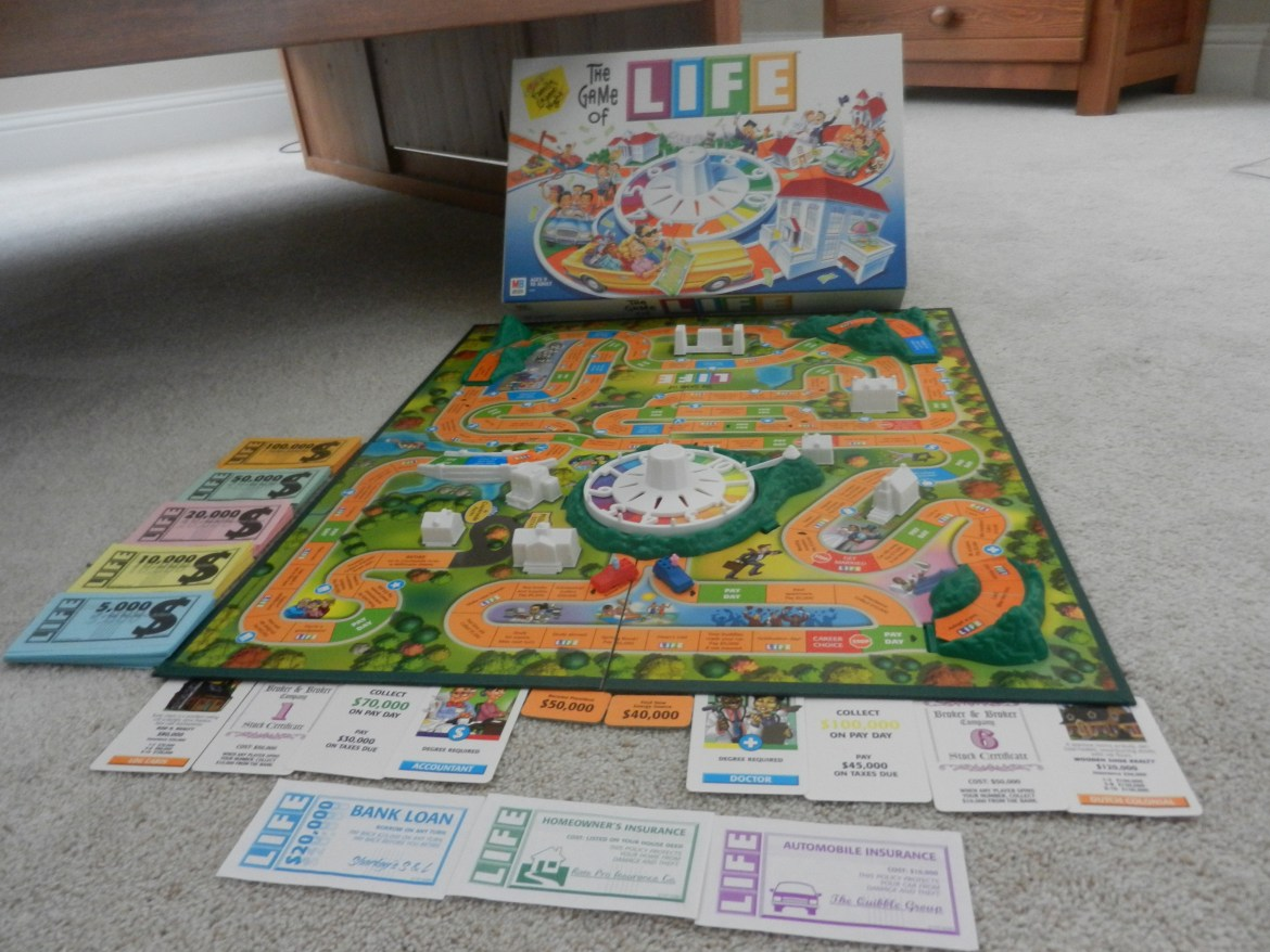 A Game of Life board set up with all pieces displayed.