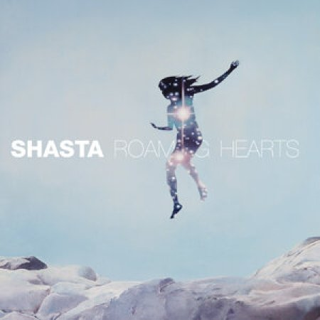 This album cover is an image of a light blue sky above white mountains. There is a silhouette that is a dark blue that is decorated with bright stars. In the middle, next to the silhouette there is the name of the artist and the album.