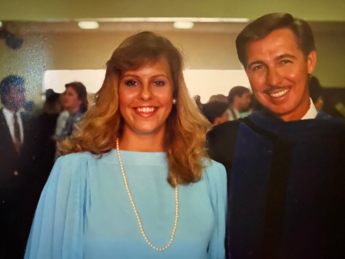 Image of a Dr. Bergeron and former dean of the college of education