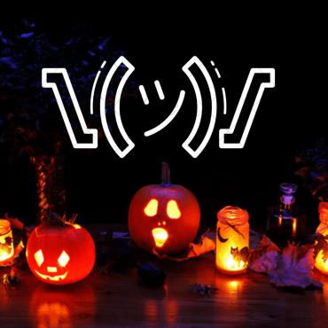 Pumpkins with an emoji.