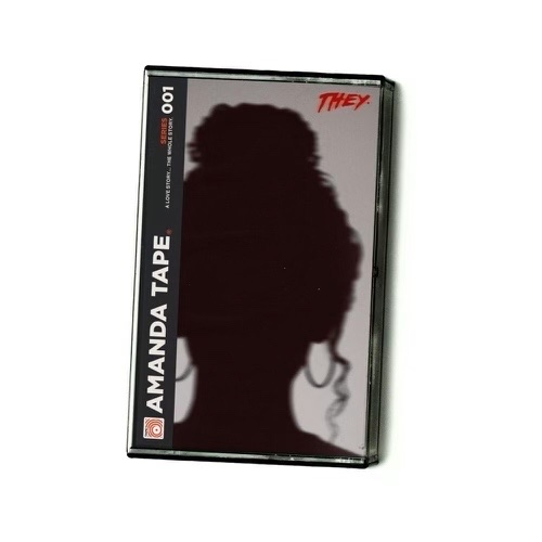The cover art is a cassette tape case with the silhouette of a female as the main image. The title of the album sits on the left side of the cassette tape case while THEY.'s logo sits in the top right.