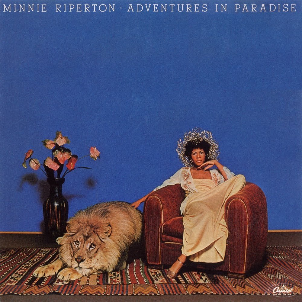 This is the cover art to Minnie Riperton'sAdventures in Paradise