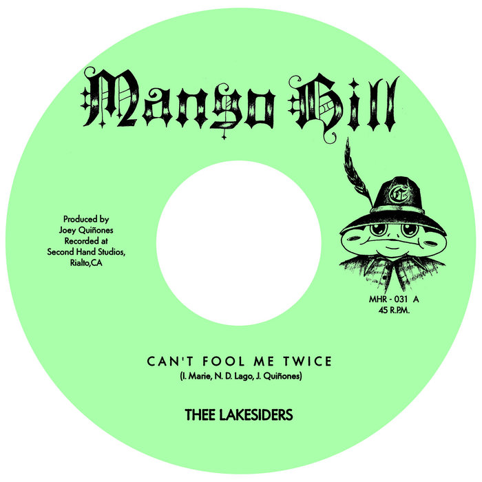 """Image of green """"Mango Hill"""" record by Thee Lakesiders"""