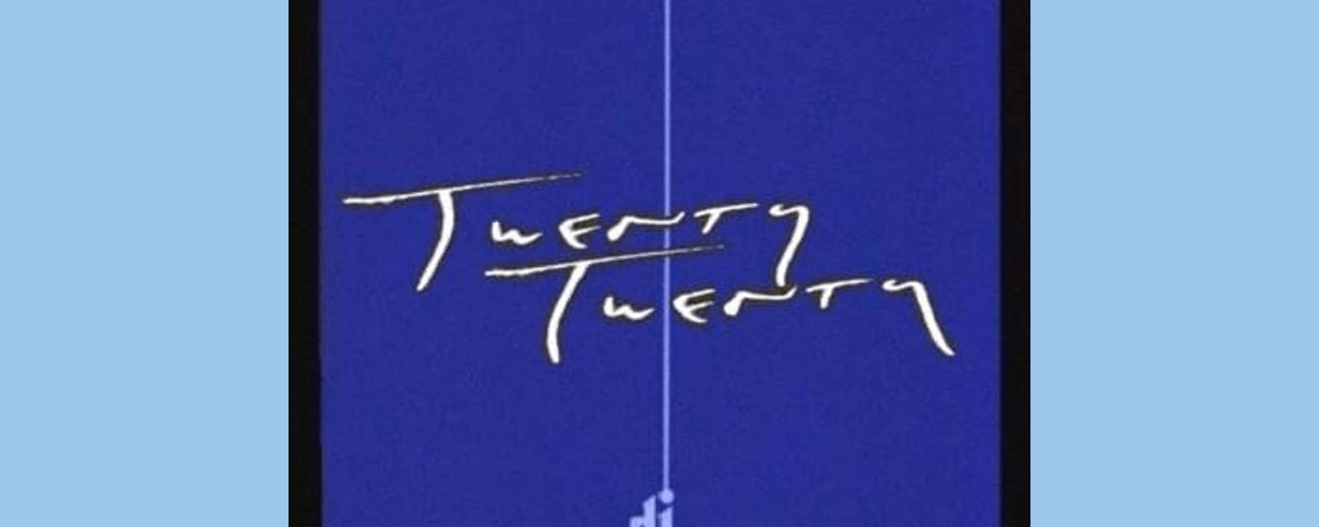 """Image of Twenty Twenty's album cover with a dark blue background and the text """"Twenty Twenty"""" and """"Djo"""" on top in gold lettering"""
