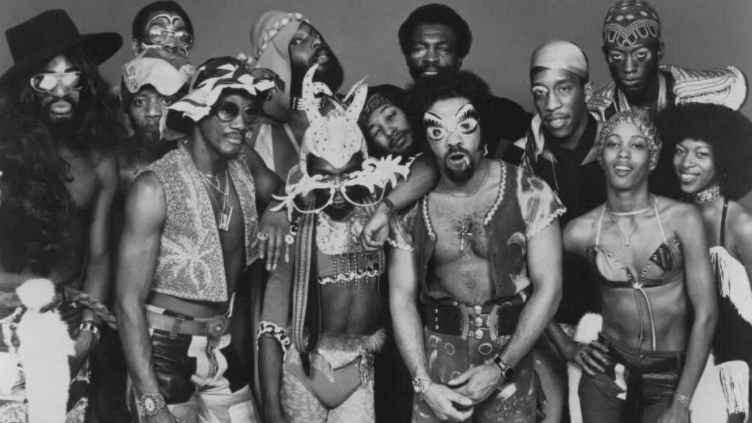 All members of George Clintons Parliament-Funkadelic shown in photo