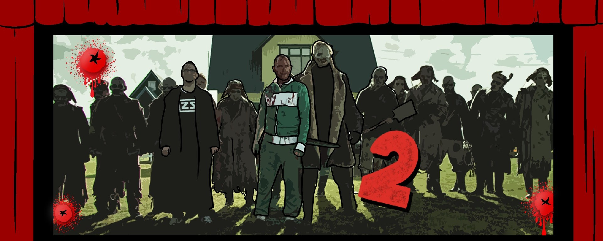 movie theatre graphic with scene from dead snow 2