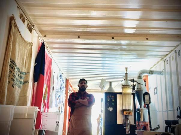 Roastmaster at Floresville Coffee Company, Josh Travieso.