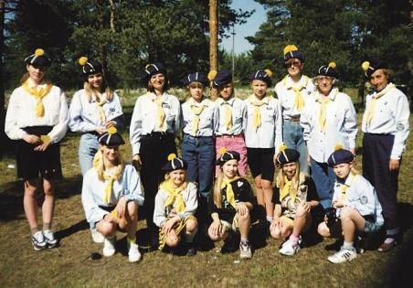 KT Tallinna ringkonna laager Männikul 1997. aastal.