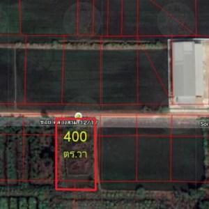 ให้เช่าที่ดิน ปทุมธานี คลองสามใกล้วัดพระธรรมกายหลายแปลง ขนาด152-606ตร.วา