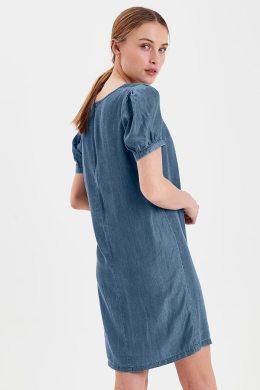 vestido medium blu dress