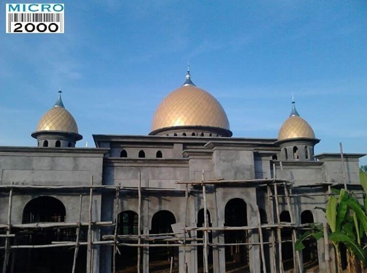 kubah anak dan kubah induk masjid caruban Dukuh Wates Desa Kedung Banteng Kec Pilang-Kenceng Kab Caruban Madiun