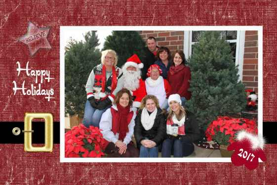 Kubes Realty free Santa pictures, donations to food shelves