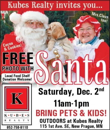Kubes Realty free photo with Santa and Mrs Claus