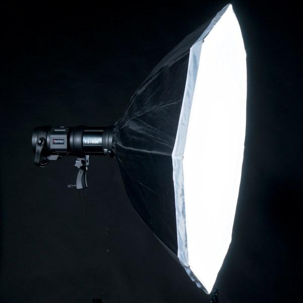 Kit 2 flashes portátiles (F1-400) con accesorios
