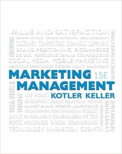 Marketing Management (15th Edition) (9780133856460) Kotler, Philip, Keller, Kevin Lane